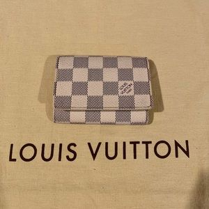 Preowned Louis Vuitton Damier Azur Cardholder